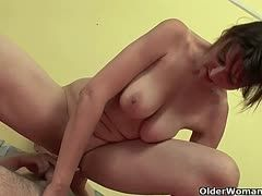 Mature twats ride young boners