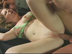 Sexy milf fucked on the pool table