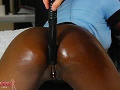 German Josy Black gets a dildo fuck