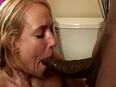 Surprising interracial sex for a horny milf