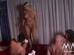 Orgy at a German swingers' brothel