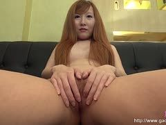 Redhaired Asian's wet cunt is fucked