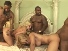 Hot gangbang with well endowed black boys