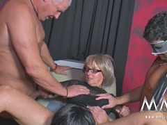 Granny and gilf have group fetish sex