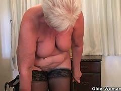 Horny grannies strip