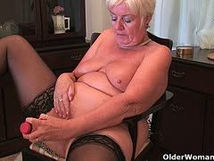 Big grannies enjoy a solo