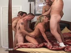 Gangbang with a mare with three holes