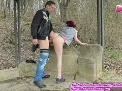 Young German Destroyedsx is picked up and has outdoor sex