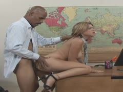 Blonde experiences a black prick for the first time