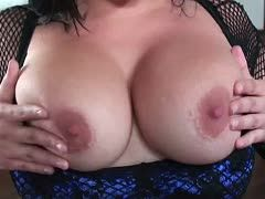 Her hot boobs bounce out of her decollete