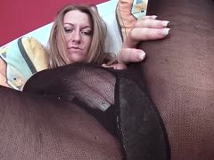 German amateur girl fucks a dildo in front of the cam