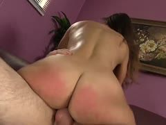 Kelsi Monroe presents her hot butt