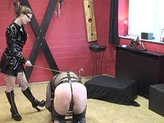 Useless slave gets an ass torture