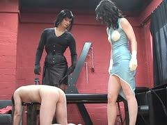 Ass treatment for naughty slave