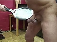 Intense beating for the slave's cock