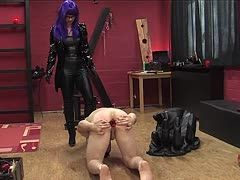 Extreme anal torture for submissive slave