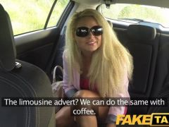 Blonde fucks in the fake taxi
