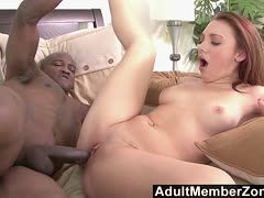 Pussy workout with a black cum giver