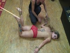 Bondage with hot Annika Bond