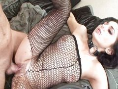Fondness for fishnet lingerie