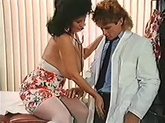 80s milf in suspenders gets a cock injection