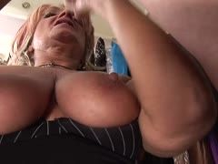 Shop assistant Joanna Depp is paid with cum