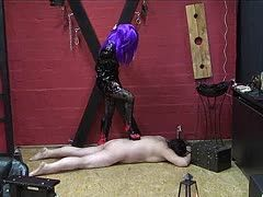 Trampling on the bony slave's body