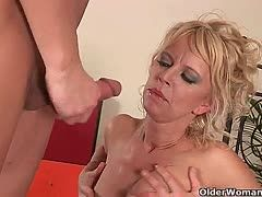 Milf gives a young fucker a private lesson
