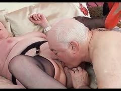 Very hard femdom sex at the pensioners' home