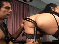 Slave bangs his annoyed mistress
