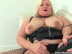 Buxom grannies and big rubber cocks
