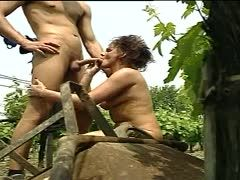 Hot fuck in the garden with Uschi