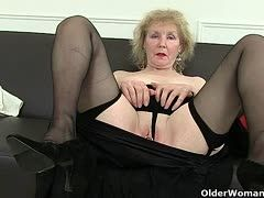 Horny old ladies with very mature tits